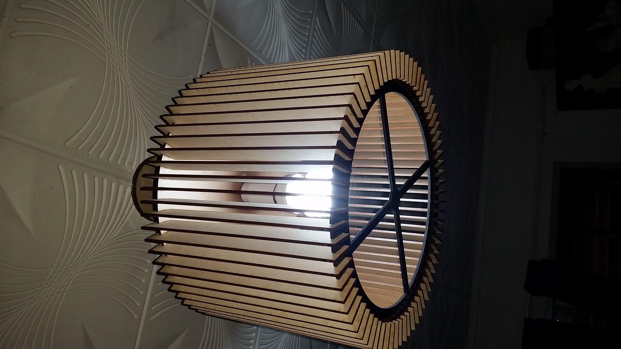 Lampara en mdf 3mm laser