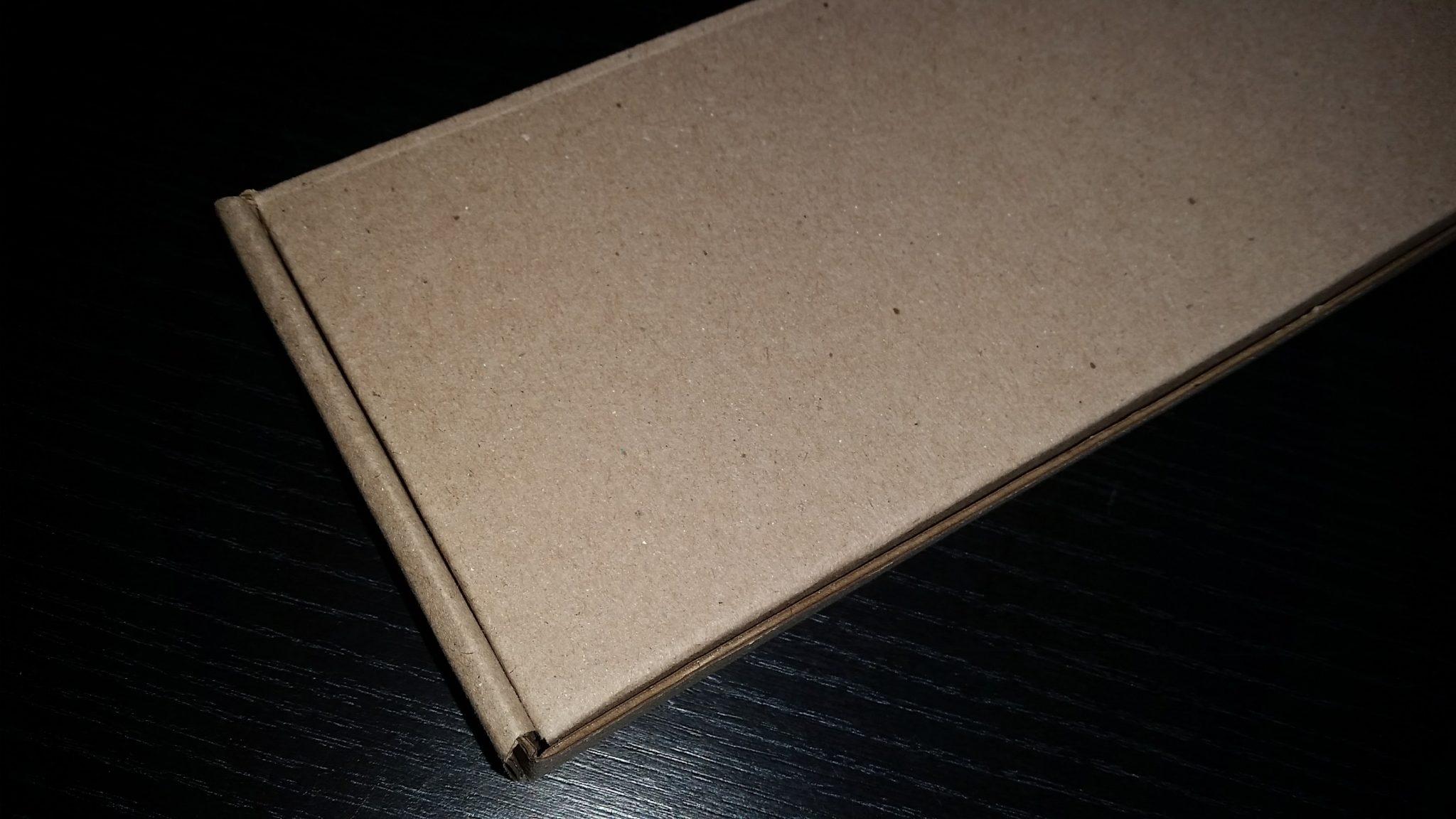 caja corrugado marron