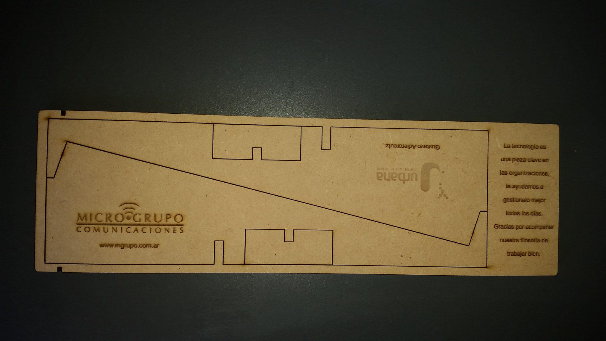detalle de grabado en laser